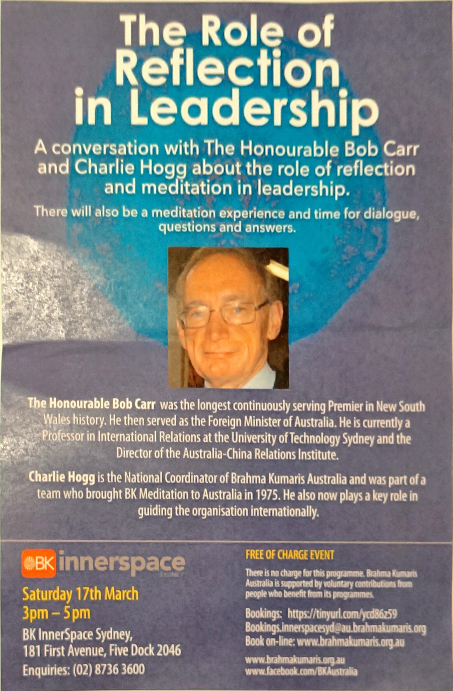 Bob Carr Flyer