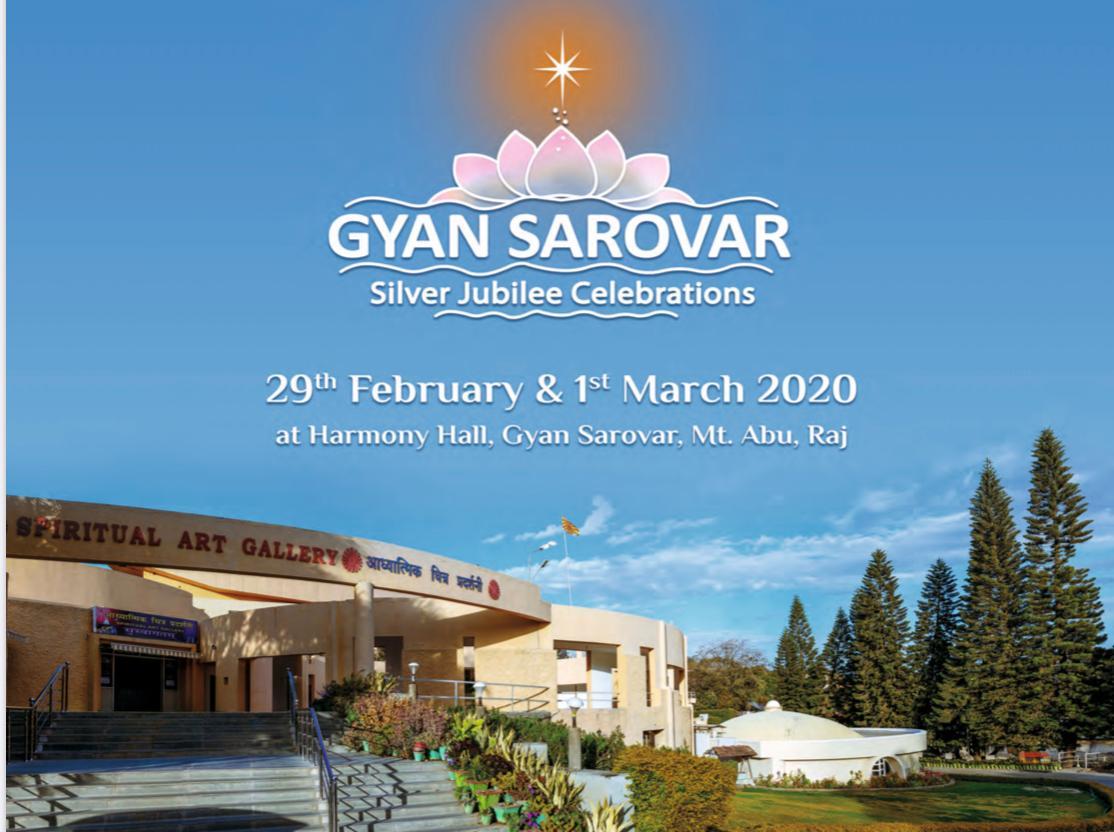 LIVE 29FEB 10.00AM Silver jubilee celebrations  at Gyansarovar